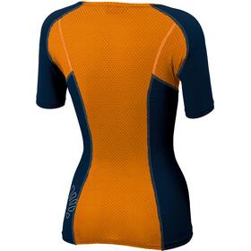 Karpos Sassongher Jersey Women, sky captain/orange fluo